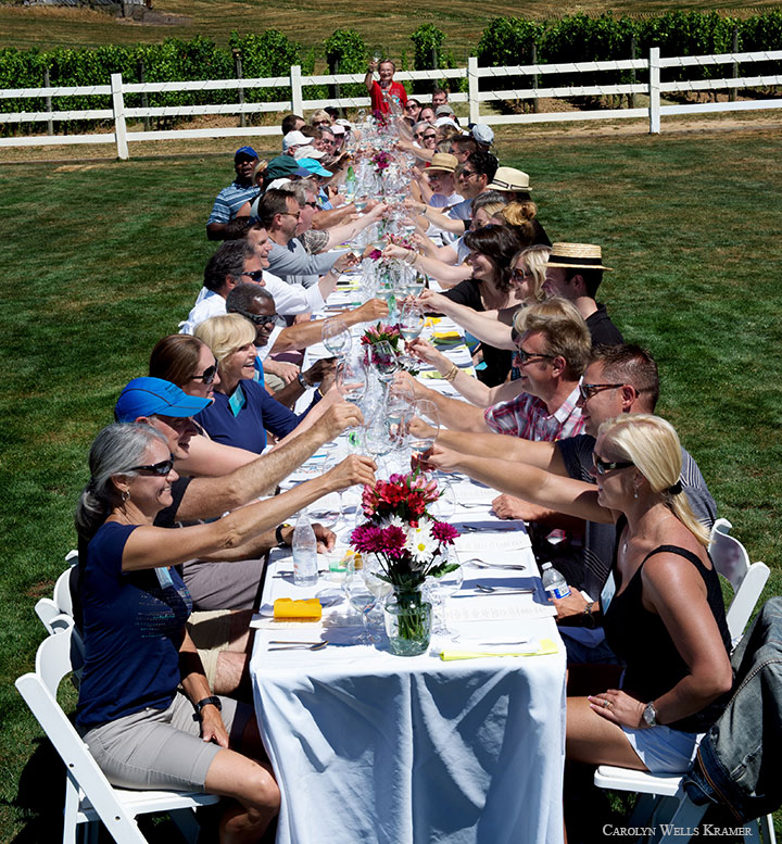 IPNC Winery Lunch (Photo By Carolyn Wells Kramer)