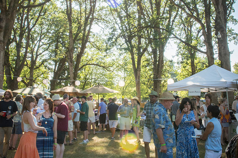 Passport To Pinot in the Oak Grove of Linfield College