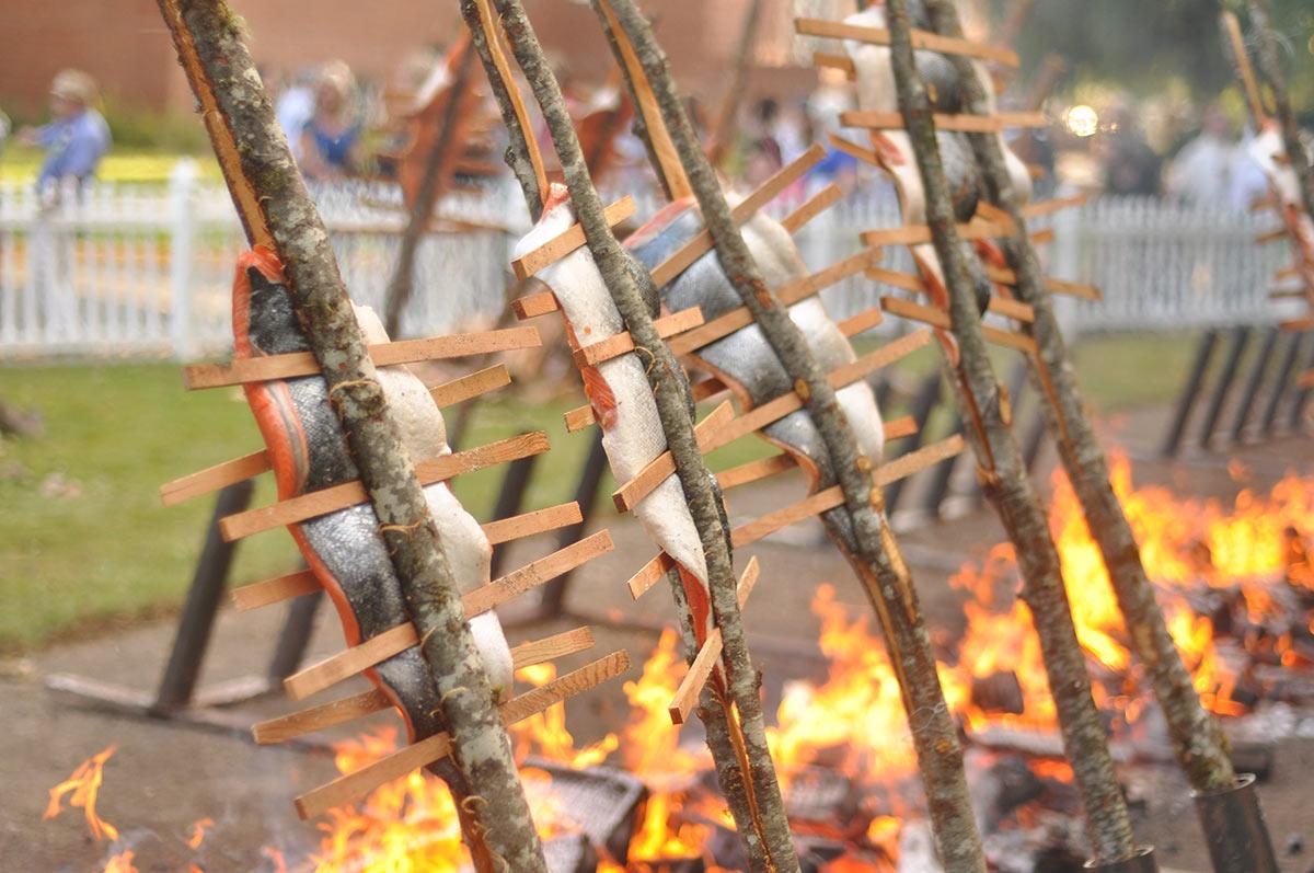Salmon Bake Fire Pit